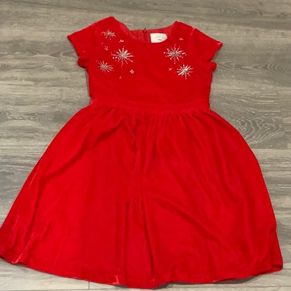 Gymboree Dressed Up Red Velvet Fancy Dress 10